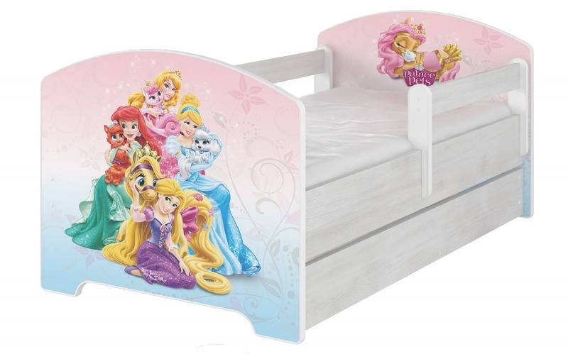 BabyBoo Detská postel Disney s šuplíkom - Palace Pets, D19