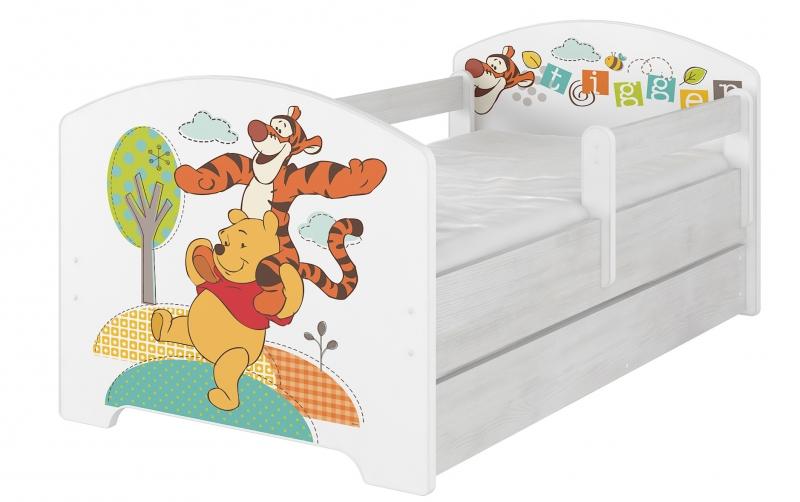 BabyBoo Detská postel Disney s šuplíkom - Medvedík PÚ, D19