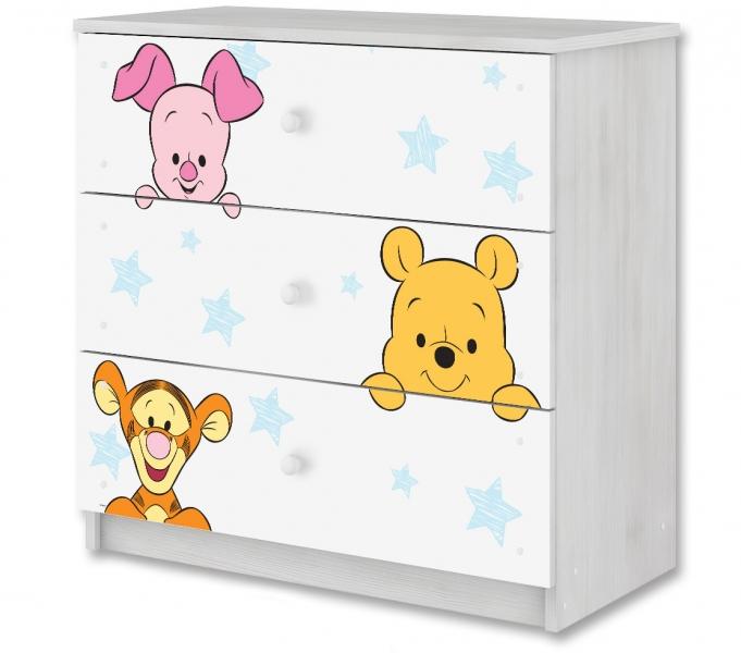 BabyBoo Disney detská komoda - Baby Macko PÚ