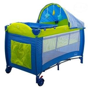 Euro Baby Detská cestovná postieľka DREAM - modrá, Ce19
