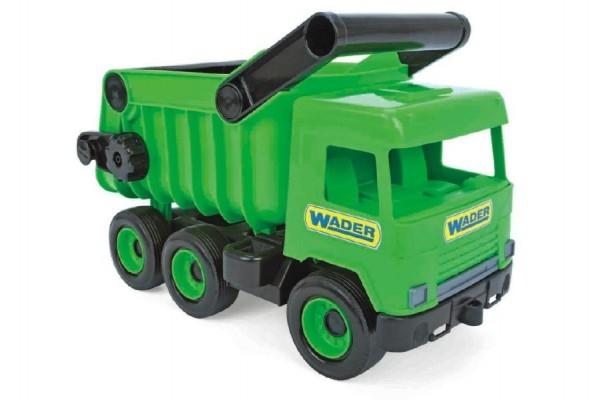 Teddies Auto middle Truck sklápač plast 36cm zelený v krabici Wader