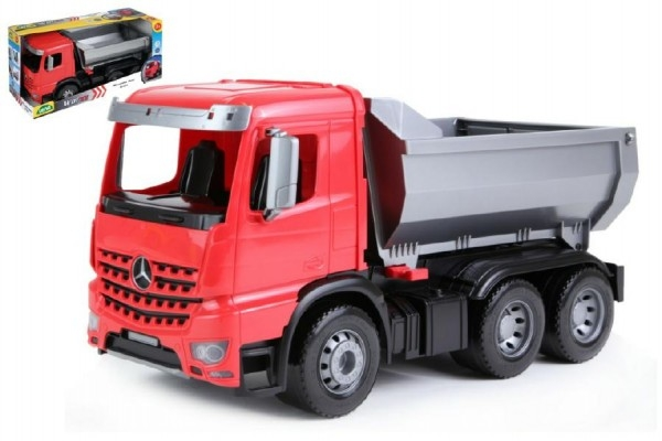 Teddies Auto sklápač Worxx plast 46cm 1:15 v krabici Mercedes Arocs