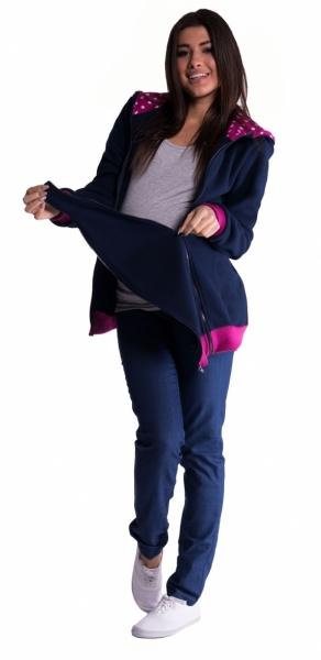 Mikina s kapucňou nielen pre tehotné - čierna