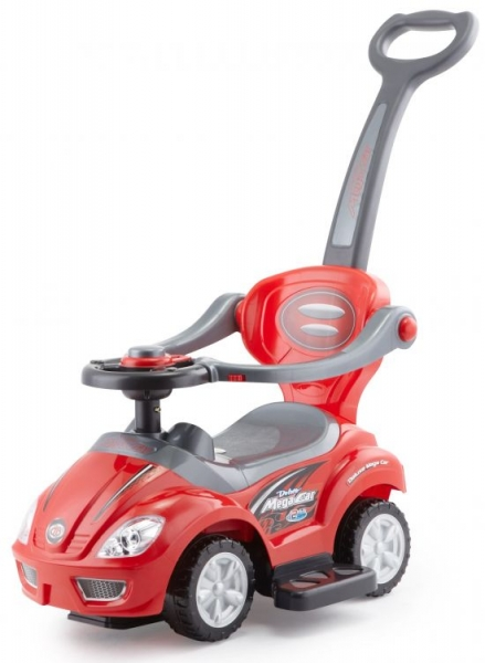 Eco toys Odrážadlo, odrážadlo 3v1 3v1 Deluxe Mega Car - červené