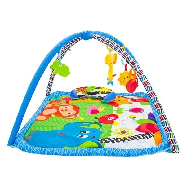 Euro Baby Hracia deka, podložka Safari - modrá