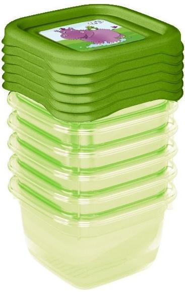 Keeeper Súprava plastových škatuliek Hippo 0,1l - 6 ks