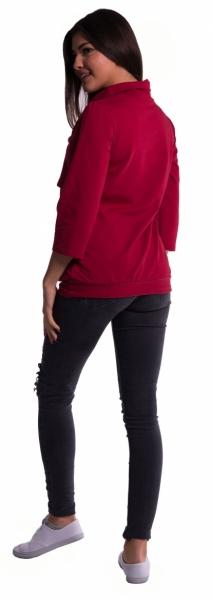 Tehotenské a dojčiace teplákové triko - čierné