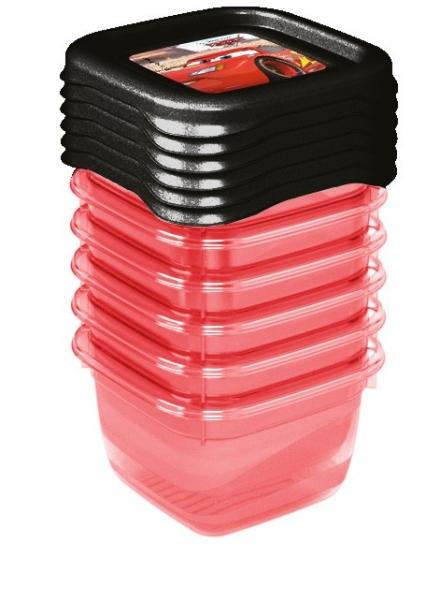 Keeeper Súprava plastových škatuliek Cars 0,1l - 6 ks