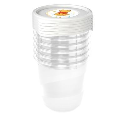 Keeeper Súprava plastových škatuliek Medvedík Pú 0,2l - 6 ks