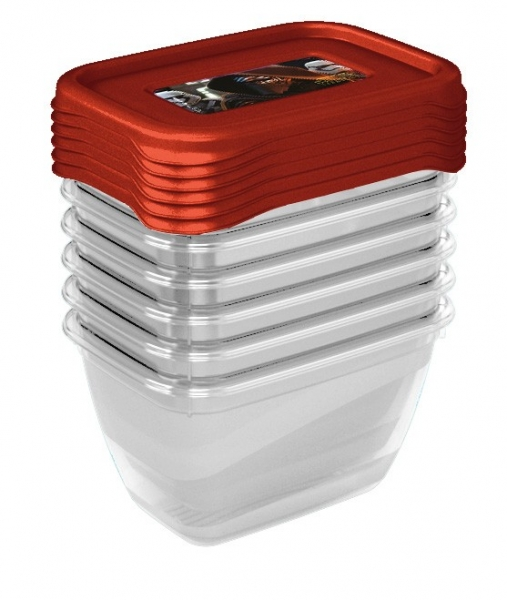 Súprava plastových škatuliek Star Wars 0,25l - 6 ks