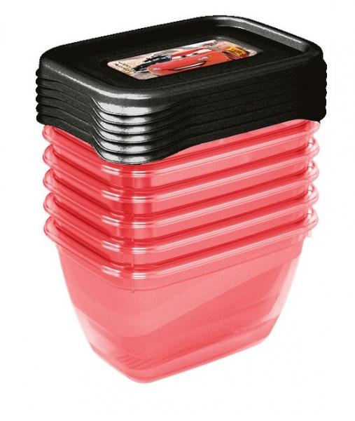 Súprava plastových škatuliek Cars 0,25l - 6 ks