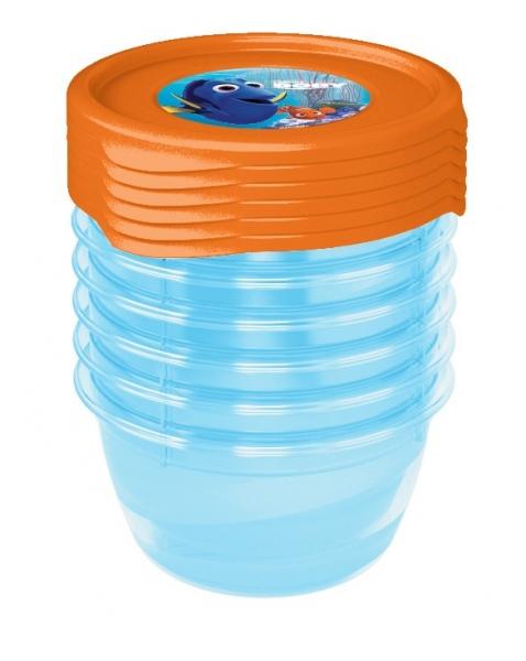 Súprava plastových škatuliek Hľadá sa Dory 0,5l - 5 ks