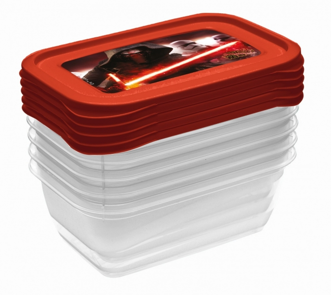 Keeeper Súprava plastových škatuliek Star Wars 0,5l - 5 ks