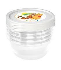 Súprava plastových škatuliek Medvedík Pú 0,35l - 6 ks