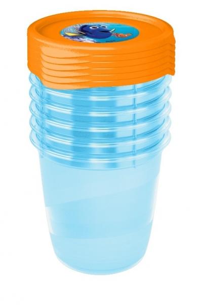 Súprava plastových škatuliek Hľadá sa Dory  0,35l - 6 ks