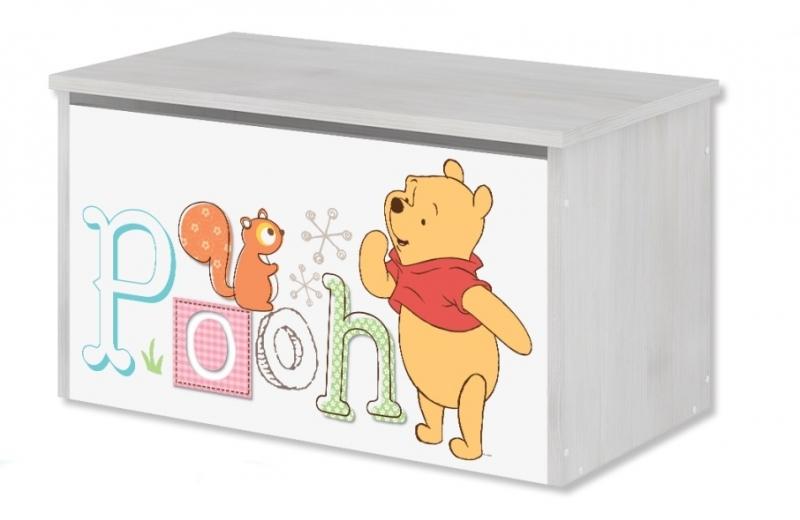 BabyBoo Box na hračky, truhla Disney - Medvedík PÚ a prasiatko, D19