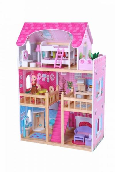 Drevený domček pre bábiky ECO TOYS