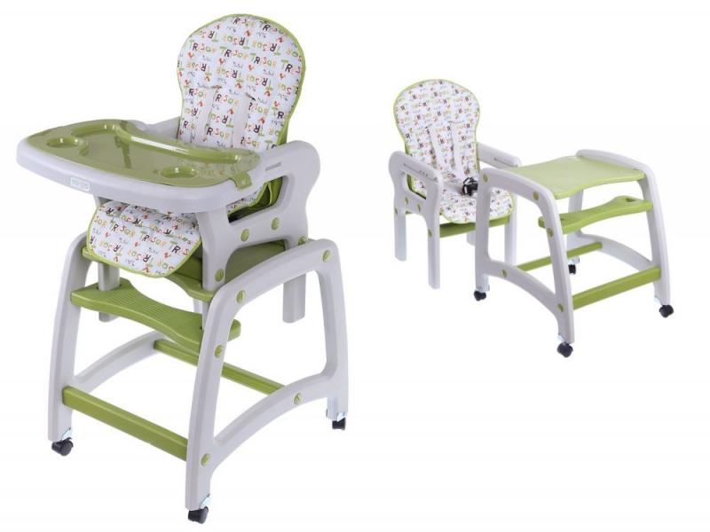 Jedálenský stolček  2v1 - zelený