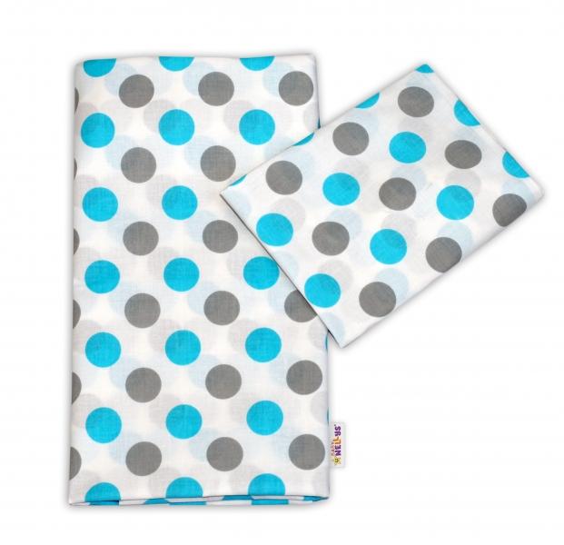 Bavlnené obliečky Baby Nellys ® Bodky - modré-120x90