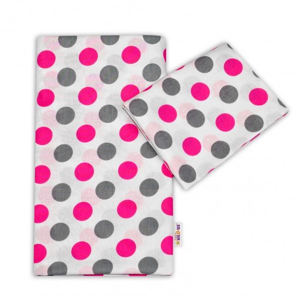 Bavlnené obliečky Baby Nellys ® Bodky - ružové-135x100