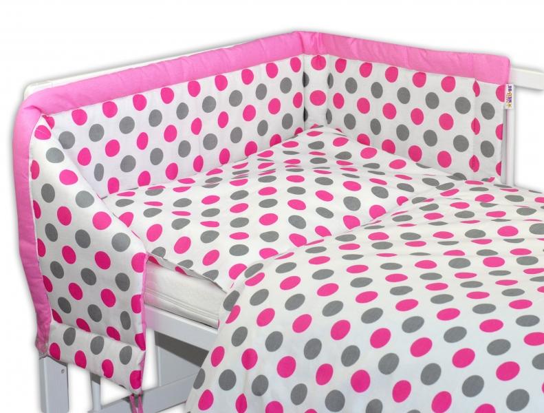 Mantinel s obliečkami Baby Nellys ® Bodky - růžové