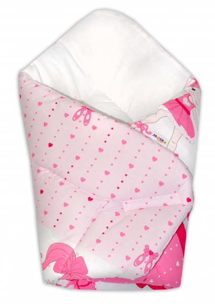 Novorodenecká zavinovačka Baby Nellys ®- Baletka - ružová