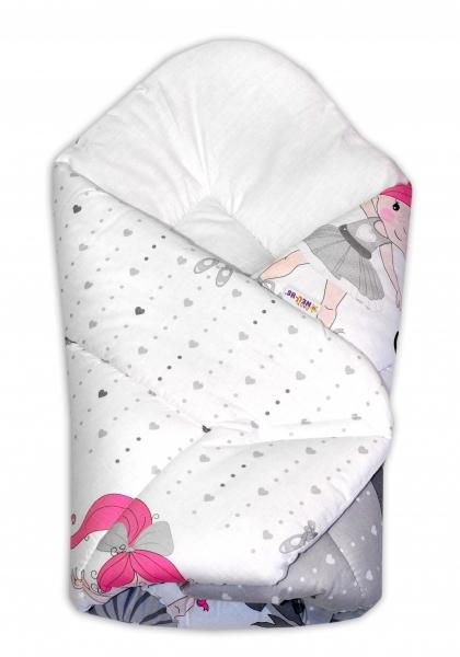 Novorodenecká zavinovačka Baby Nellys ®- Baletka - sivá