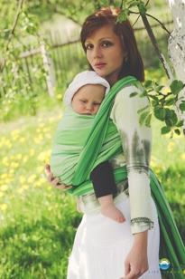 Little FROG Tkaný šatka na nosenie detí -  TSAVORITE veľ. XL