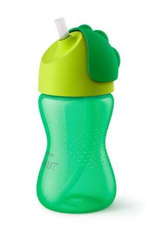 AVENT Hrnček so slamkou 300ml -zelený