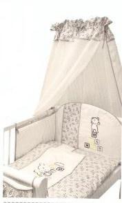 Bavlnené obliečky Medvedík kostička - šedá, 120x90 cm