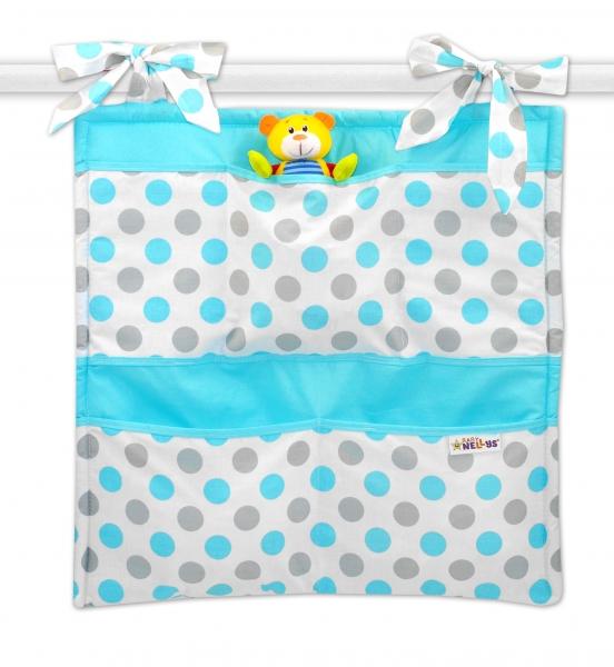 Vreckár Baby Nellys ® Bodky - modré