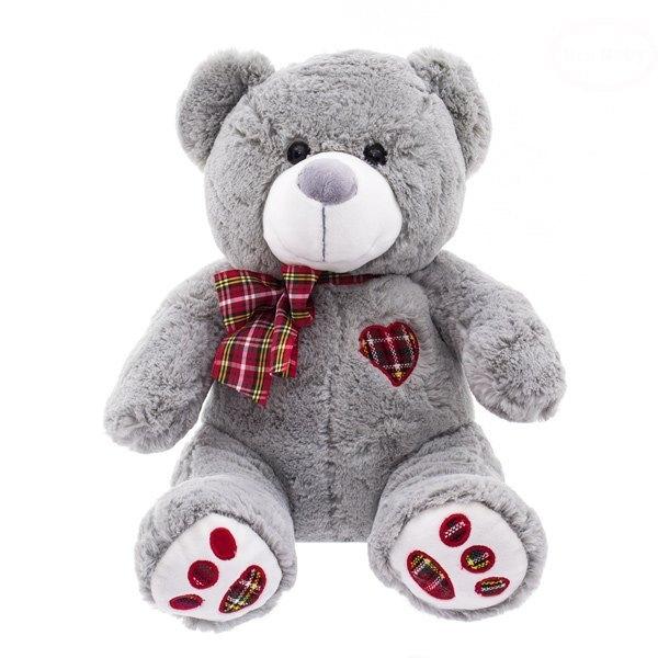 Euro Baby Plyšový medvedík 40cm - sivý