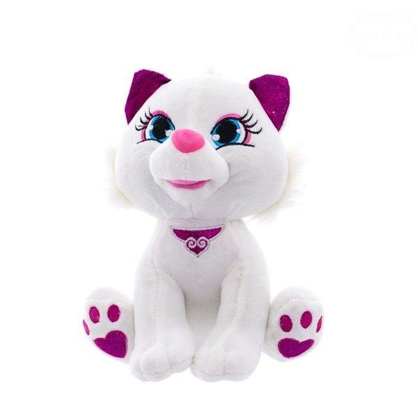 Euro Baby Plyšová mačička 30cm - biela, Ce19