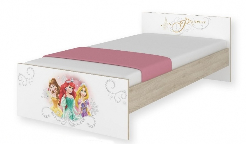 BabyBoo Detská junior posteľ Disney - Princess, 180x90 cm