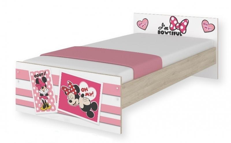 BabyBoo Detská junior posteľ Disney - Minnie UPS, 180x90 cm