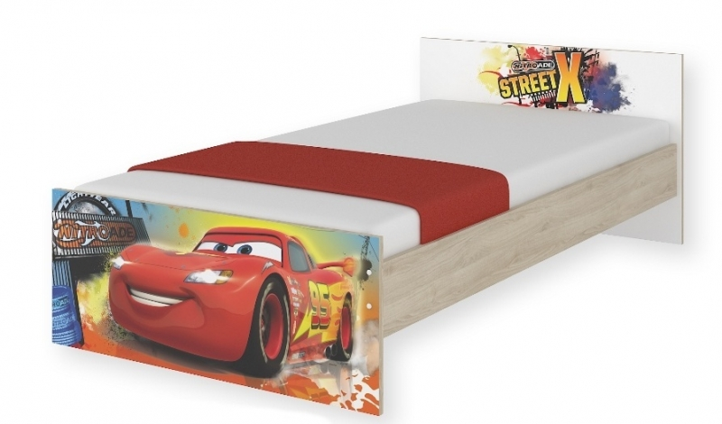 BabyBoo Detská junior posteľ Disney - Cars, 180x90 cm