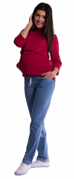 Tehotenské nohavice -  svetly jeans, 4XL