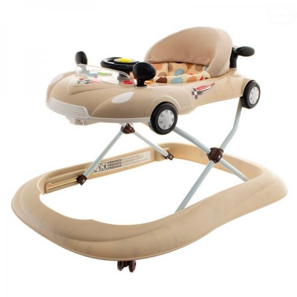Euro Baby Multifunkčné chodítko s volantom - béžové, Ce19