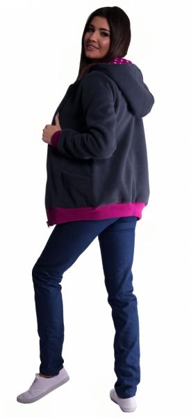 Be MaaMaa Mikina s kapucňou nielen pre tehotné - grafit