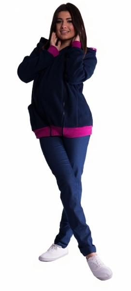 Mikina s kapucňou nielen pre tehotné - granát
