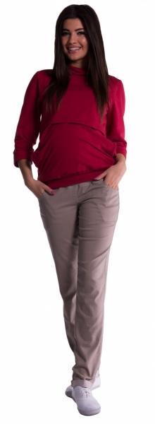 Tehotenské nohavice -  béžové