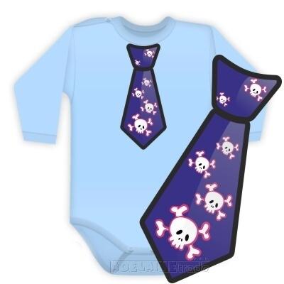 DEJNA Body dlhý rukáv kravata COOL - sv. modré, vel. 92
