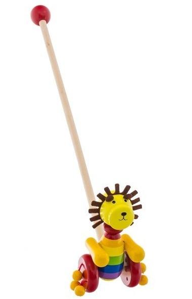 Drevená jazdiaca hračka Euro Baby - lev