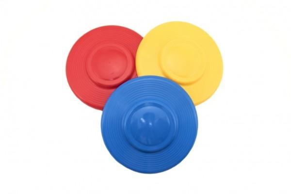 Teddies Lietajúci tanier plast priemer 23cm asst 3 farby 12m +