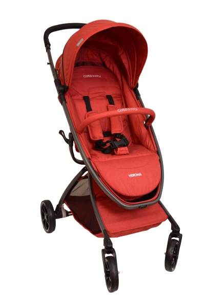 Coto Baby Kočík Verona Comfort Line - Red Linen