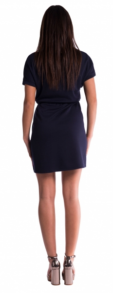 Be MaaMaa Tehotenské šaty s viazaním - bordó veľ. XS
