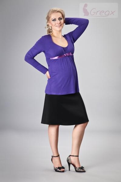 Elegantná tehotenská sukňa ming - čierna