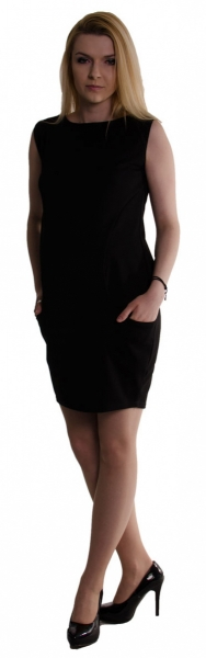 Be MaaMaa Tehotenské letné šaty s vreckami - čierne