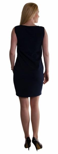 Tehotenské letné šaty s vreckami - ecru