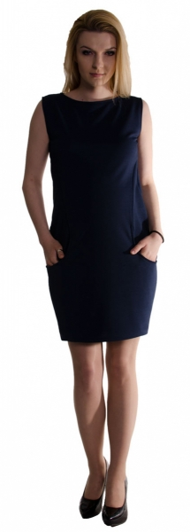 Tehotenské letné šaty s vreckami - granát